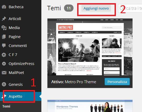2 semplici metodi per installare un tema su WordPress