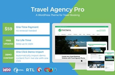 Travel Agency freemium theme