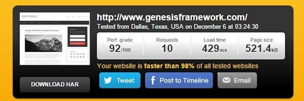 Tema per WordPress veloce