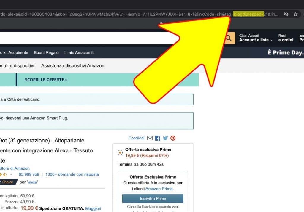 link di affiliazione Amazon