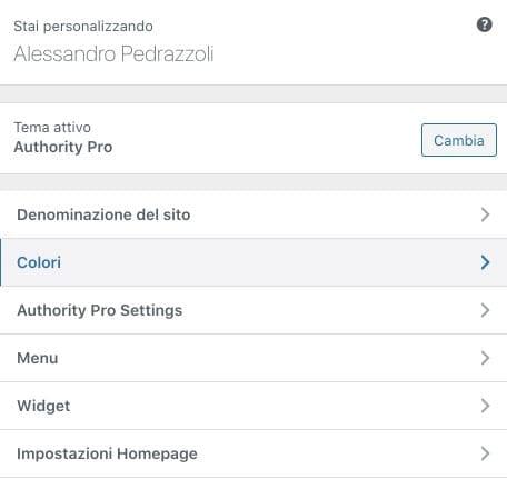 Personalizare template WordPress