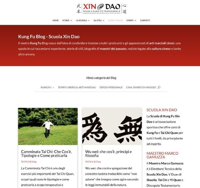 Blog aziendale - esempio Kung Fu