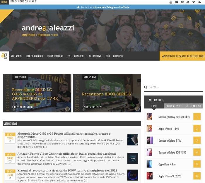 Blog di attualità - Esempio Galeazzi