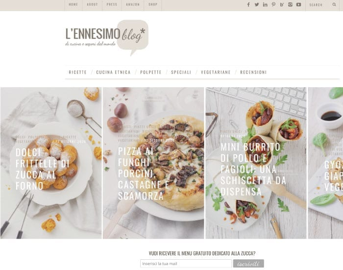 Blog tematico - esempio cucina